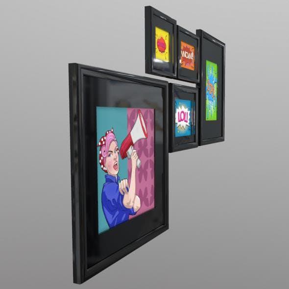 Pop Art - 3DOcean Item for Sale