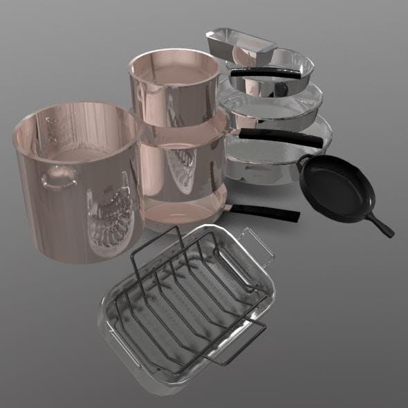 Pots and Pans - 3DOcean Item for Sale