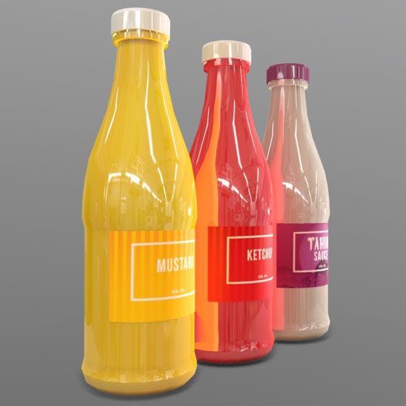 Condiment Bottles - 3DOcean Item for Sale