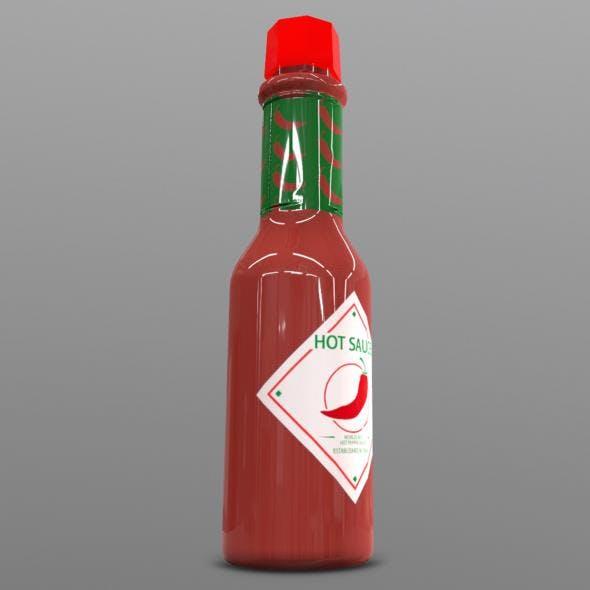 Hot Sauce Bottle - 3DOcean Item for Sale