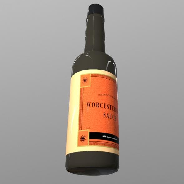 Worcestershire Sauce Bottle - 3DOcean Item for Sale
