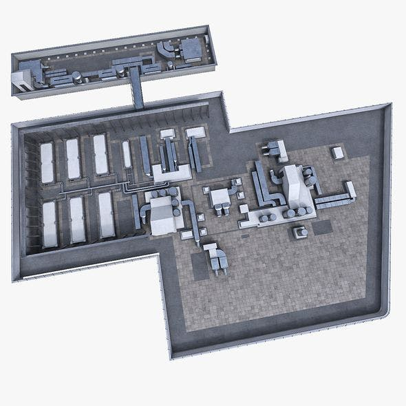 Rooftop Ventilation Equipment - 3DOcean Item for Sale