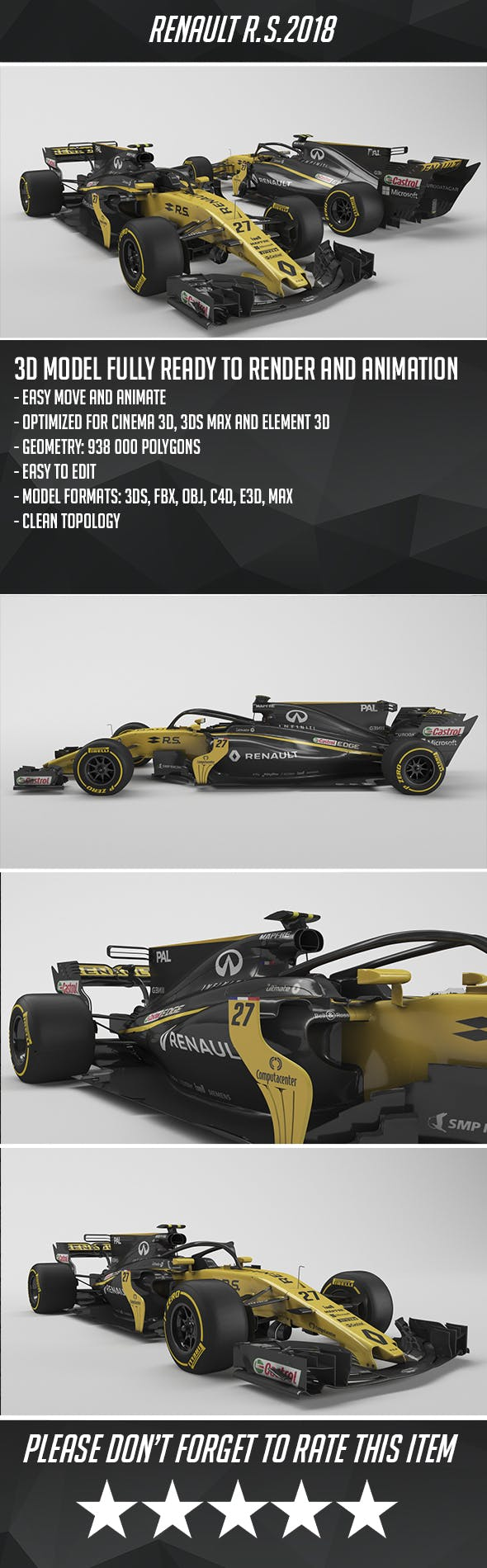 Renault R.S.18 - 3DOcean Item for Sale