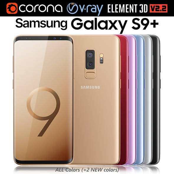 Samsung Galaxy S9 PLUS ALL Colors (+2 NEW Colors) - 3DOcean Item for Sale