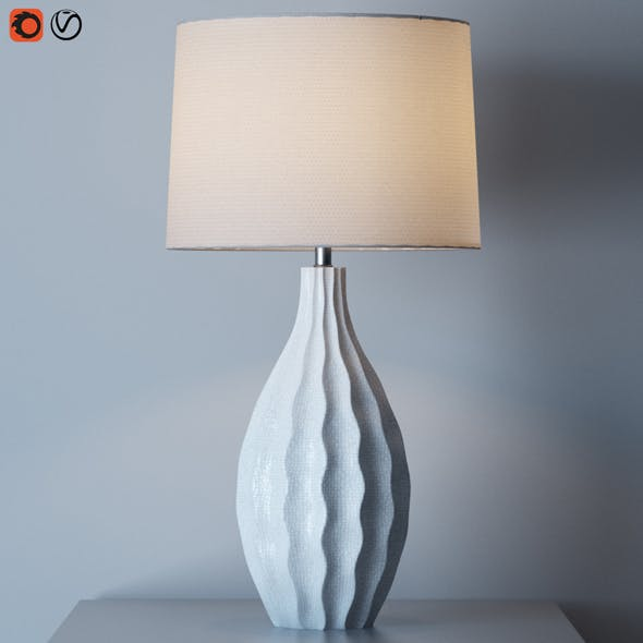 Otranto Ivory Crackle Table Lamp - 3DOcean Item for Sale