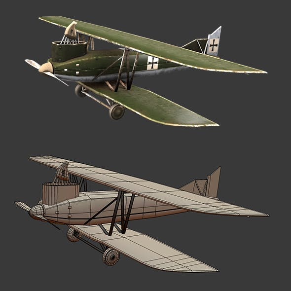 Aircraft, Plane, Airplane, Old Airplane, Junker_J4