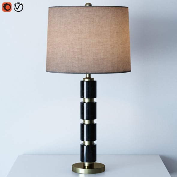 Overton Table Lamp - 3DOcean Item for Sale