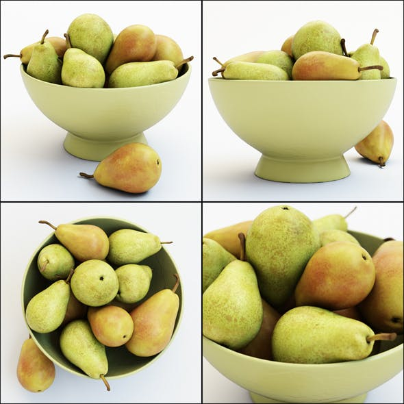 Pears in the Vase - 3DOcean Item for Sale