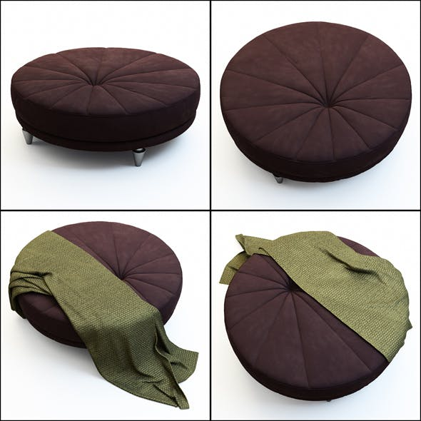 Pouf Berkano IPE Cavalli - 3DOcean Item for Sale