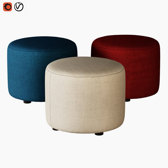 Pouf Ditre Chloe - 3DOcean Item for Sale