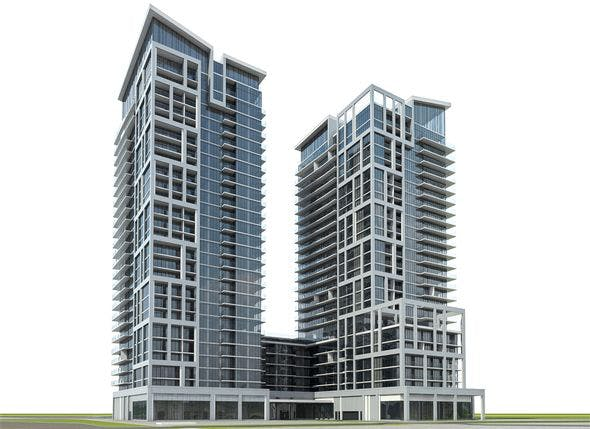 Residential Tower Complex 02 - 3DOcean Item for Sale