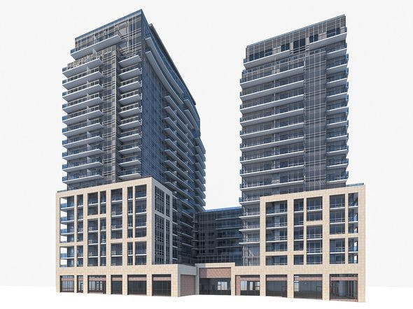 Residential Tower Complex 03 - 3DOcean Item for Sale
