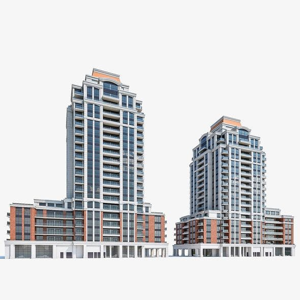Residential Tower Complex 04 - 3DOcean Item for Sale