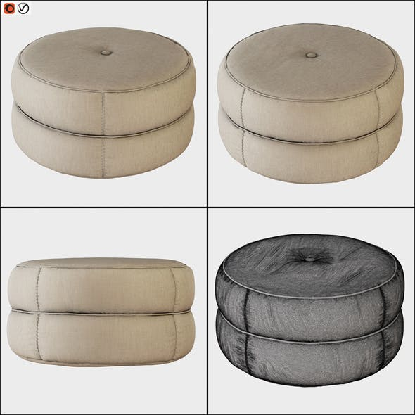 Pouf Kazar - 3DOcean Item for Sale