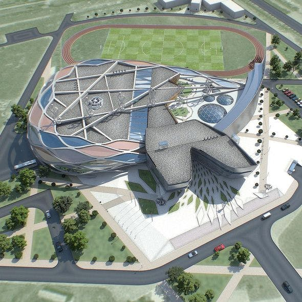 Sports Complex 01 - 3DOcean Item for Sale