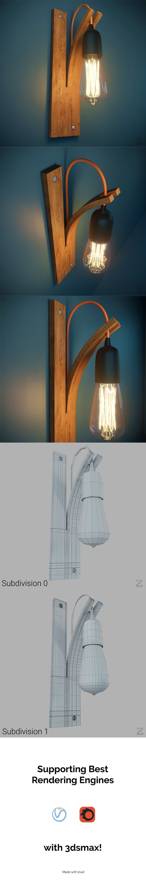 Wall Light 2 - 3DOcean Item for Sale