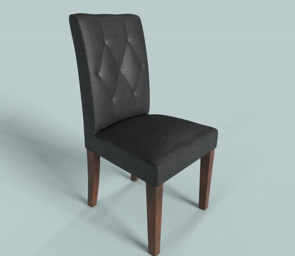 PBR Leather Chair Black - 3DOcean Item for Sale