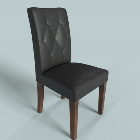PBR Leather Chair Black