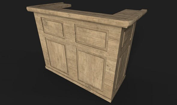 Wooden Bar Counter - 3DOcean Item for Sale