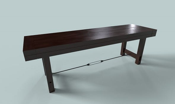 Chocolate Brown Rose Wood Bench - 3DOcean Item for Sale