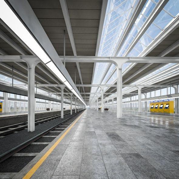 Train Station 01 - 3DOcean Item for Sale
