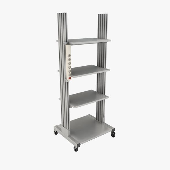Mobile rack for electrical equipment 4 - 3DOcean Item for Sale
