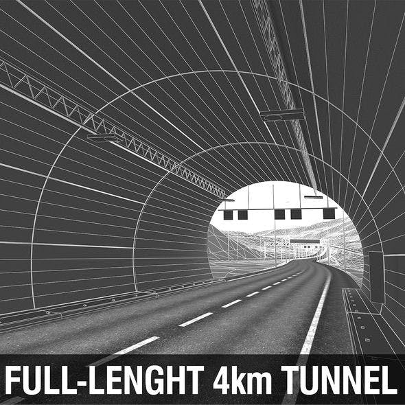 Tunnel with Terrain - 3DOcean Item for Sale