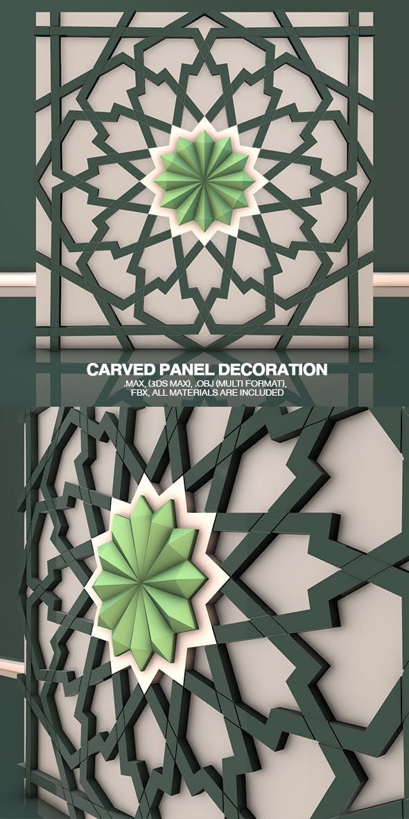 Carved Panel Decoration - 3DOcean Item for Sale
