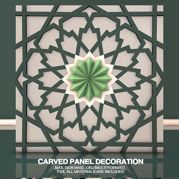 Carved Panel Decoration