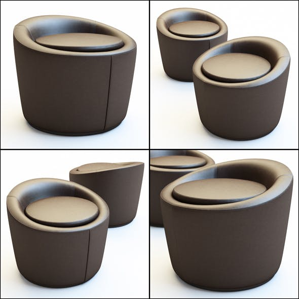 Pouf Loren - 3DOcean Item for Sale