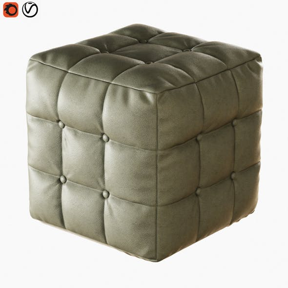Pouf with Buttons - 3DOcean Item for Sale