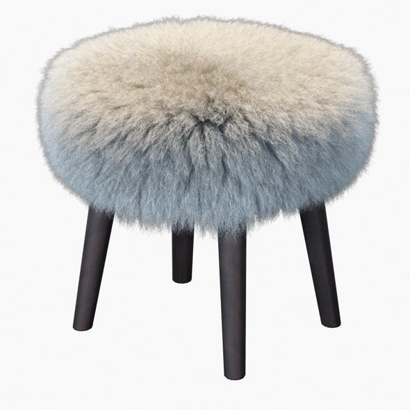 Round Mongolian Lamb Stool - 3DOcean Item for Sale