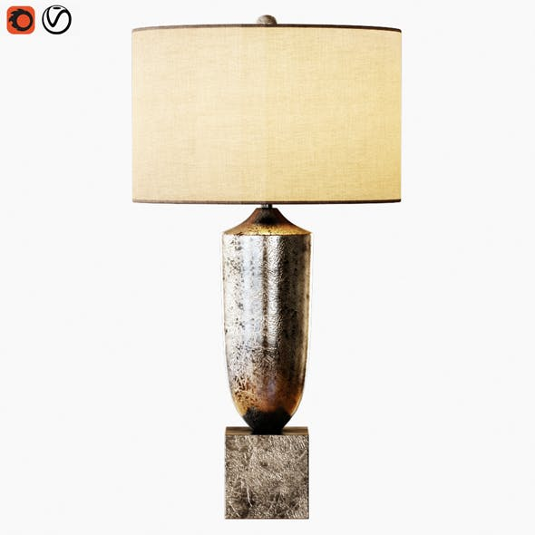 Silversmith Table Lamp - 3DOcean Item for Sale