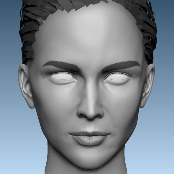 Head Base Mesh Female 3D model 3D model - 3DOcean Item for Sale