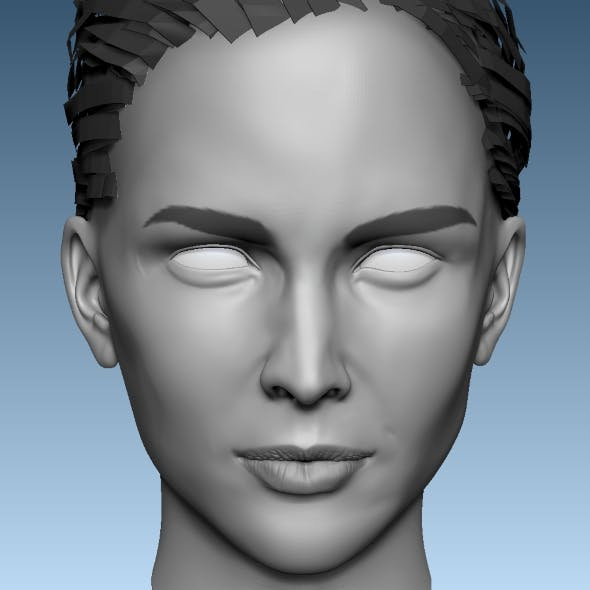 Head Base Mesh Female 3D model 3D model