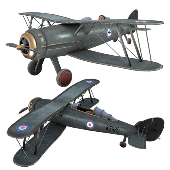 Airplane GLOSTER GLADIATOR, PLANE - 3DOcean Item for Sale