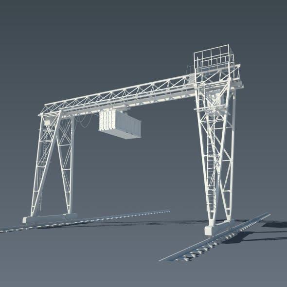 Gantry Crane - 3DOcean Item for Sale