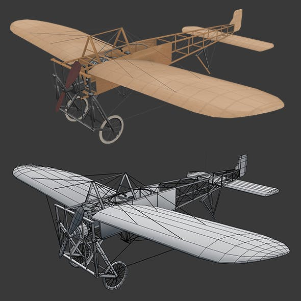 Airplane Bleriot-XI - 3DOcean Item for Sale