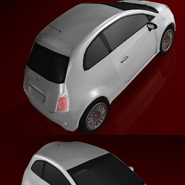 high poly fiat 500