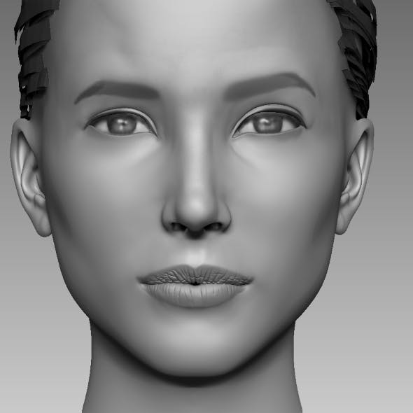 Head Base Mesh Female - 3DOcean Item for Sale