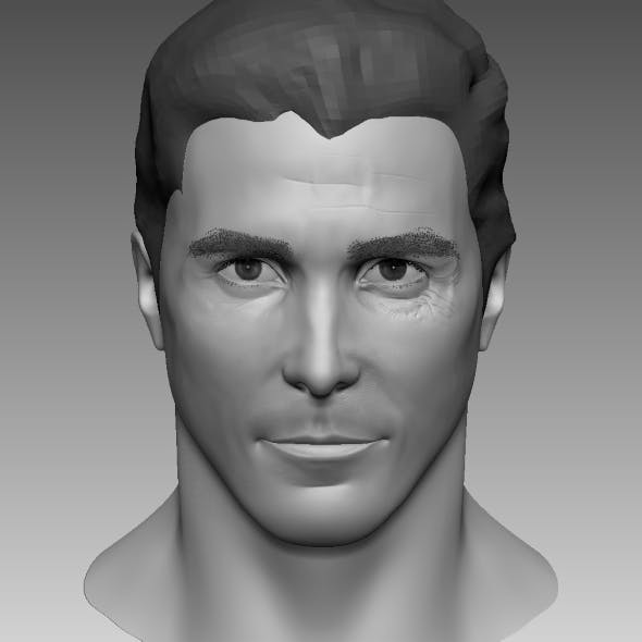 Head Base Mesh Male 3D model based on Christian Bale