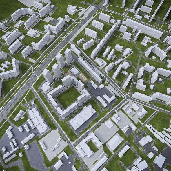 Urban Area 04 - 3DOcean Item for Sale