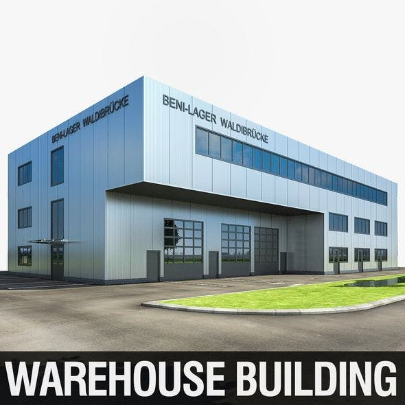 Warehouse Building 01 - 3DOcean Item for Sale