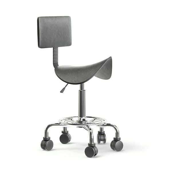 Salon Stool 3D Model - 3DOcean Item for Sale