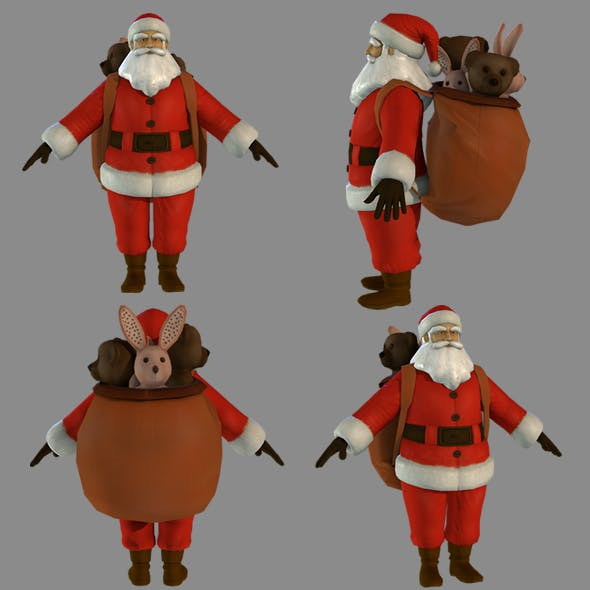 SANTA CLAUS AND GIFT - 3DOcean Item for Sale