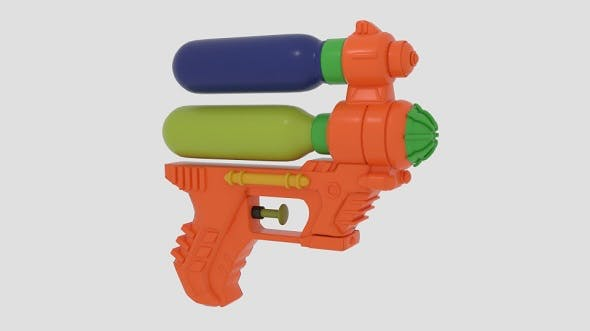 6-Inch Water Guns - 3DOcean Item for Sale