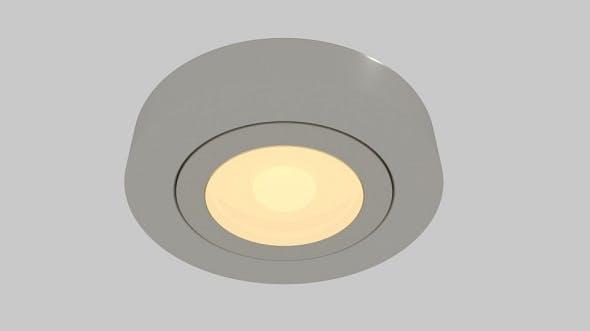 Recessed Round Light - 3DOcean Item for Sale