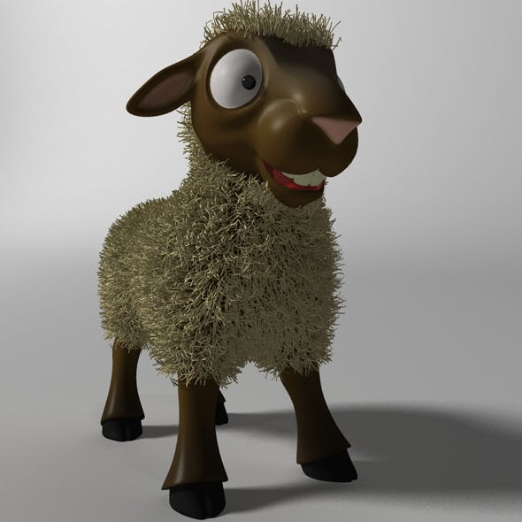 Cartoon Sheep Rigged - 3DOcean Item for Sale
