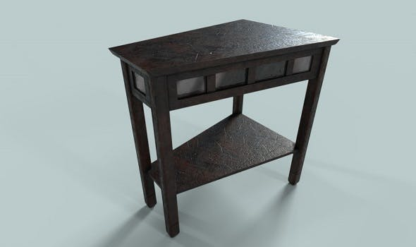 Low Polygon PBR Wooden Table - 3DOcean Item for Sale