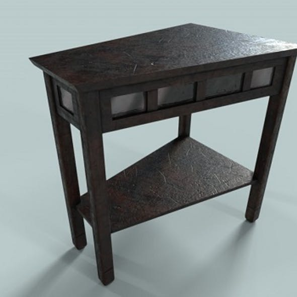 Low Polygon PBR Wooden Table